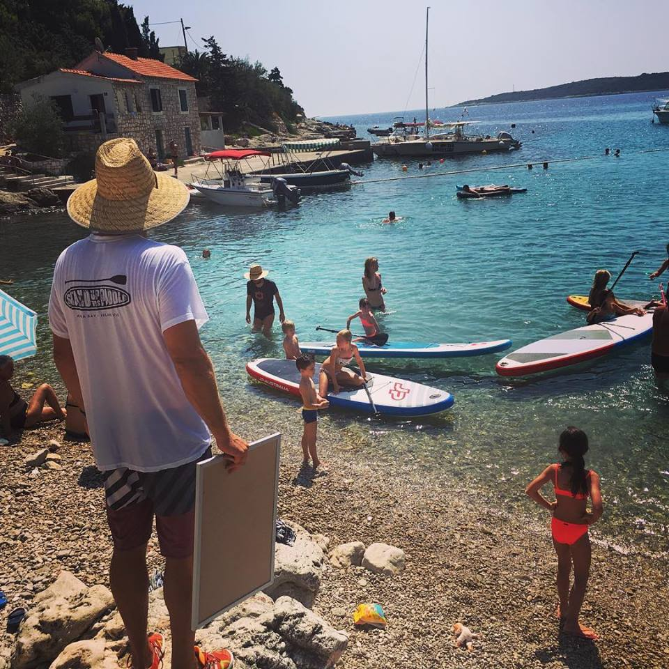 paddleboard Vis, Croatia